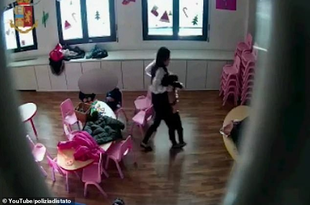 Zheng Moli, 38, and Hong Pingping, 26, are said to have abused children aged between three and six on 41 different occasions last month at the kindergarten in Prato