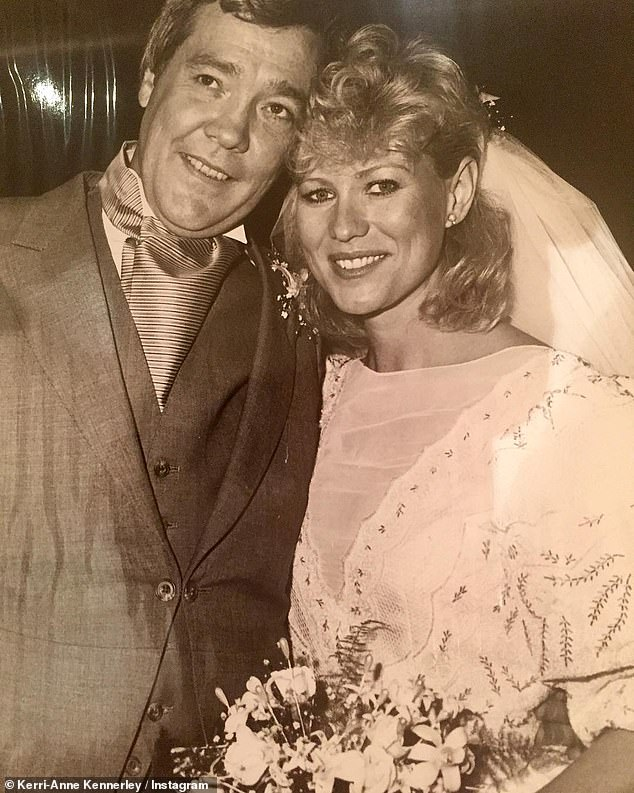 Memories: Studio 10 host Kerri-Anne Kennerley, 66, fought back tears on Tuesday as she paid tribute to her late husband, John, on what would have been their 36th wedding anniversary