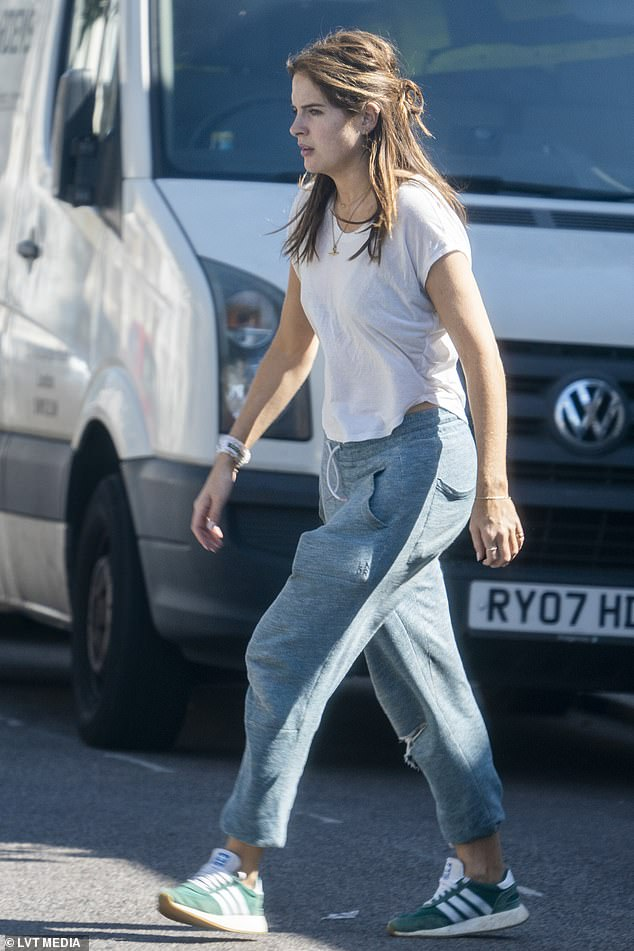 Back in London town! Binky Felstead was spotted back in London on Tuesday as she moved into her newly-renovated home with beau Max Fredrik Darnton