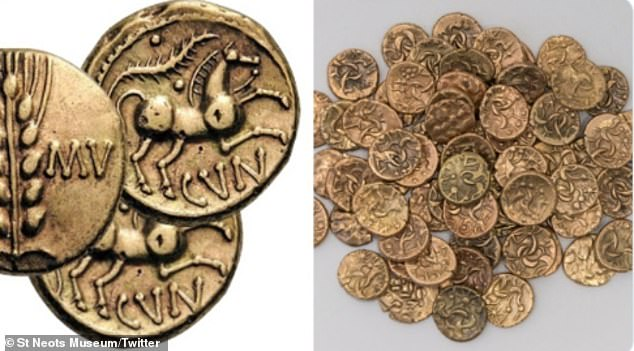 The St Neots Museum in Cambridgeshire, presented 67 Celtic coins, which it said are roughly 2,000 years-old