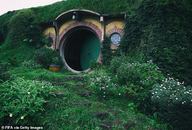 The tourist visited the Hobbiton movie set (pictured), in Matamata, on Friday, August 7. They tested positive for the deadly virus when they arrived back in their home country