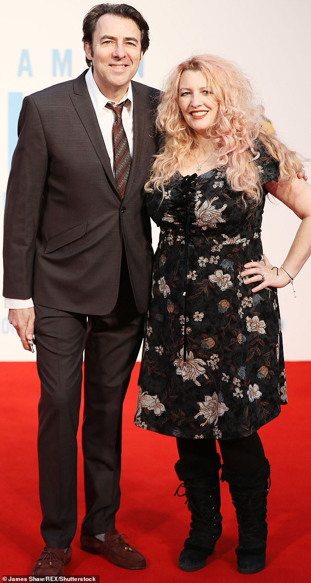 Wedding bells: The host of The Jonathan Ross show, 49, exchanged vows with his screenwriter wife, 40 in 1988 and the pair have been inseparable ever since (pictured in 2017)