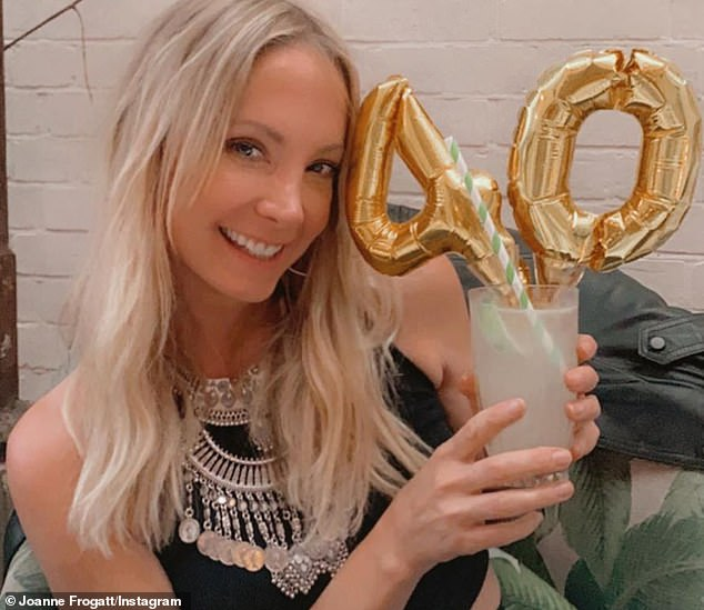 Confident: Joanne Froggatt has celebrated her recent 40th birthday with an inspirational post about ageing on Instagram