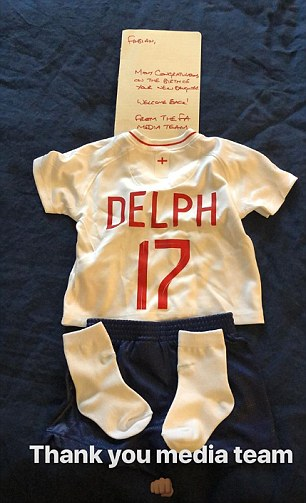 Delph received a baby grow for his newborn daughter as well as a note from the FA media team