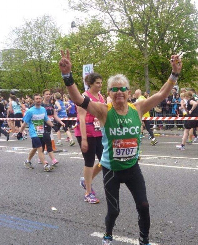 Ivan Mostyn-Scott, 71, only took up running three years ago and completed the London Marathon this year