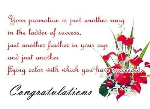 Congratulations Image for promotion with funny messages