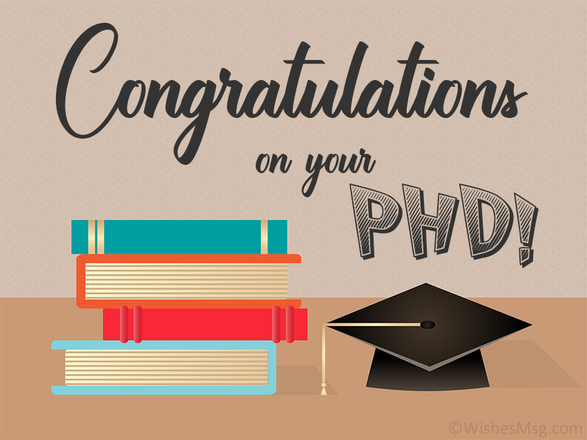 Congratulations on Your PhD